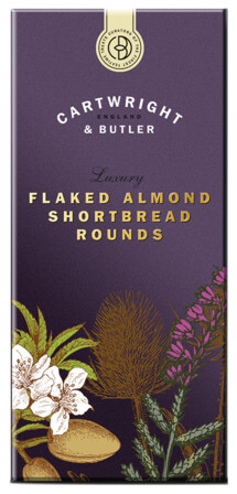Flaked Almond Shortbread Rounds
