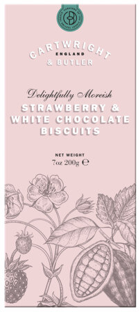 Strawberry and White Chocolate Biscuits