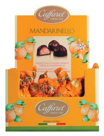 Mandarinello praline, display