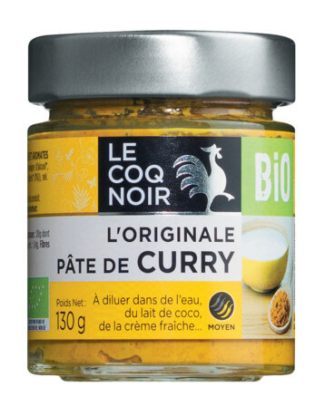 Pâte pour curry, Curry-Ingwer-Gewürzpaste, BIO