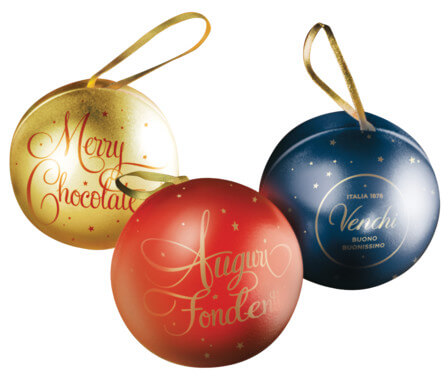 Tin Baubles in pvc box