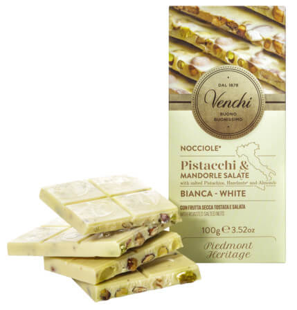 White Chocolate with salted nuts Bar